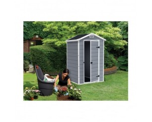 Keter Manor Plastic Garden Shed 4x3 Grey