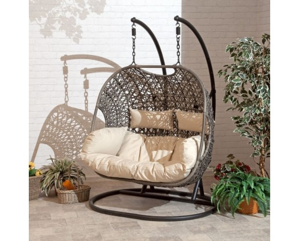 Cocoon Hanging Egg Chair Double - cream