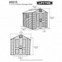 Lifetime 7x7ft plastic garden shed