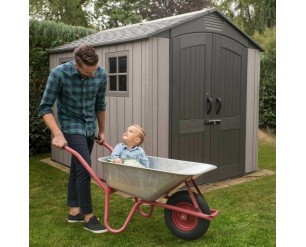 Lifetime 7 x 9.5ft plastic garden shed