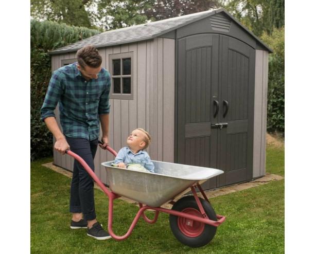 Lifetime 7 x 9.5ft plastic garden shed