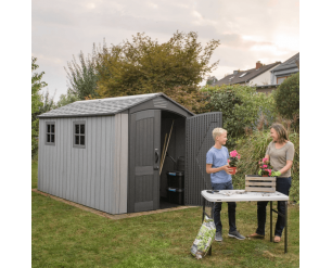 Lifetime 7x12ft plastic garden shed