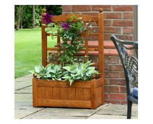 AFK Cottage Arbour Wooden Garden Bench Lavender & Cream No Planters