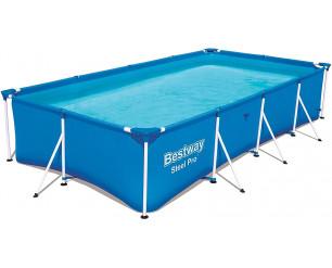 Bestway Steel Pro Family Pool - Steel Frame Swimminpool - 400 x 211 x 81 cm - Blue