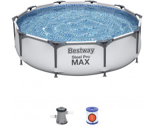 Bestway 56408 Steel Pro Frame Swimming Pool with Pump - 10 feet x 30 inch