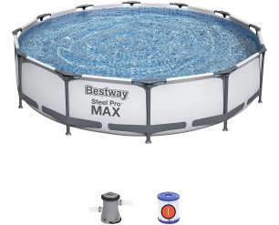 Bestway BW56416 Swimming Pool with Filter Pump, Steel Pro Max, 30 Inch Deep, 12 ft