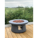 GSD 75cm Round Modern Fire Pit Table Concrete w/FREE Cover