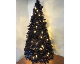 Snowtime Pre-Lit Pop Up Holly Tree - 120cm (4ft) - Black