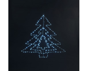 Snowtime Tree LED Silhouette Ice White LED's 64cm - In or Outdoor Use