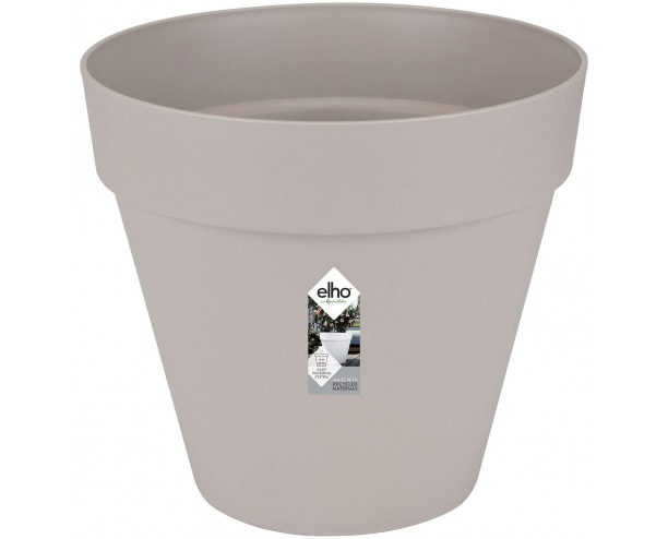 elho Loft Urban Round Flower Pot 50 cm - Warm Grey