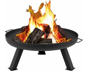 Garden Fire Pit Patio Heater Log Wood Charcoal Burner Brazier 80cm Diameter