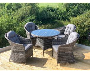 Florida Aluminium Rattan Garden Furniture - 4 Seat Set