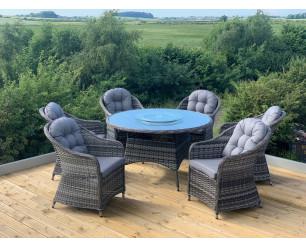 Florida Aluminium Rattan Garden Furniture - 6 Seat Set