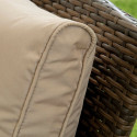 GSD Rattan Garden Furniture 4 Piece Patio Set- Brown with light brown cushions