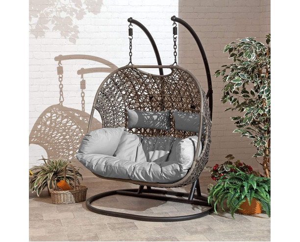 Cocoon Hanging Egg Chair Double - Grey