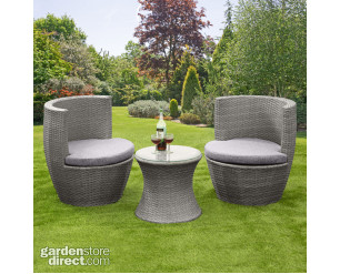 Bottle Shape Bistro Set - Rattan Wicker Table and Chairs