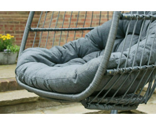 Holly Folding Single Cocoon Egg Chair Swing  - Grey