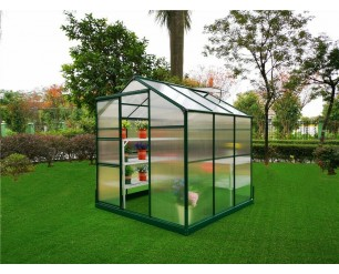 GSD Greenhouse Aluminium Polycarbonate With Steel Base 6x6
