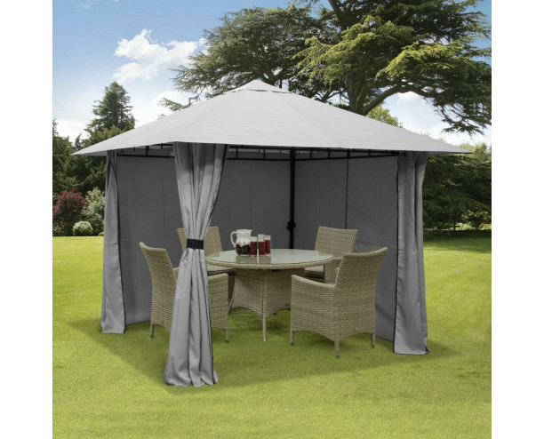 GSD 3m x 3m Gazebo Marquee - With Full Side Curtains
