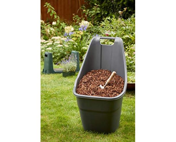 GSD Ward Rolling Cart Garden Plastic Trolley - Wheelbarrow H85, W47, D60cm