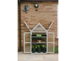 Plantpak / Gardman Wooden Growhouse - Dove Grey