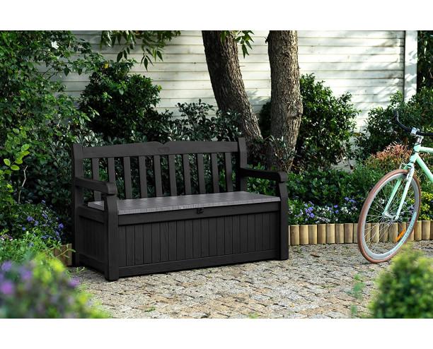 Keter Eden plastic bench - Grey