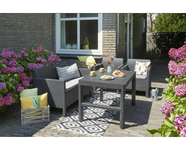 Allibert by Keter Orlando Set With Lyon Height Adjustable Table