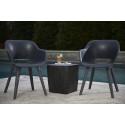 Keter Akola Chair, Graphite - Pair of Chairs