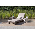 Allibert by Keter Daytona Sunlounger, Brown with Taupe Cushion