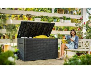 Keter Java Garden Storage Deck Box 230 Gallon - Grey
