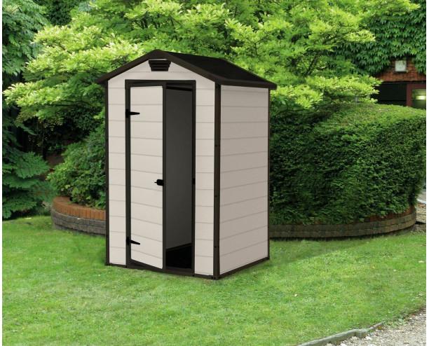 Keter Manor Plastic Garden Shed 4x3 Beige & Brown