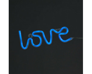 'Love' LED Rope Light - 3 Colours Available 30cm Battery & USB Powered BLUE