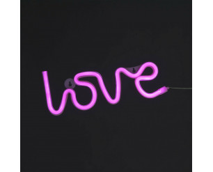 'Love' LED Rope Light - 3 Colours Available 30cm Battery & USB Powered PINK