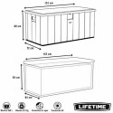 Lifetime Garden Storage Box Piston Lid 568 L