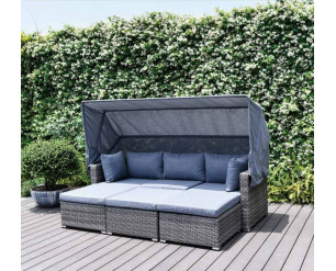 Enzo Modular Multi Fuction Lounge Set - Sunlouger, Sofa, Daybed, L Shape All In One Set! Aluminium, 5 Year Warranty!