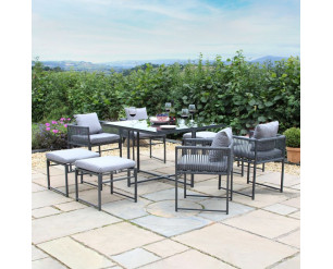 GSD Cube Dining Garden Furniture 8 Seater Patio Set In/Outdoor - Modern, High Quality!