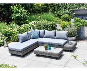 GSD St Lucia Corner Sofa Sunlounger Rattan Luxury Garden Set 5 Year Warranty!!!