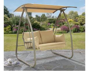 Norfolk Leisure Newmarket Swing Seat - Grey Frame