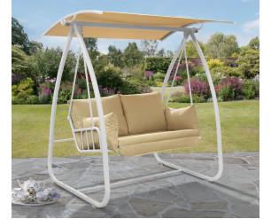 Norfolk Leisure Newmarket Swing Seat - White Frame