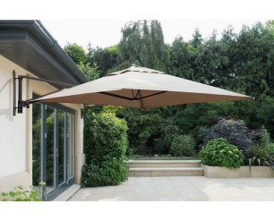 Wall Mounted Cantilever Parasol - Taupe