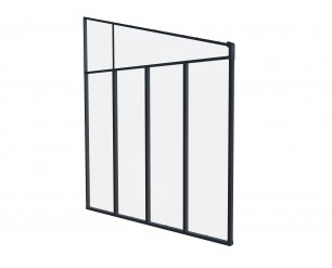 Palram Tuscany Patio Cover Grey Aluminium sidewall 3m ONLY