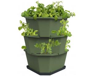 Paul Potato Starter Potato Tower - Dark Green - 3 Tier