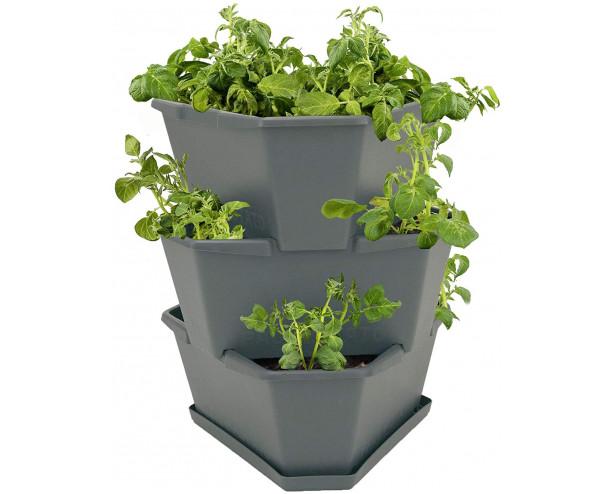 Paul Potato Starter Potato Tower - Grey - 3 Tier