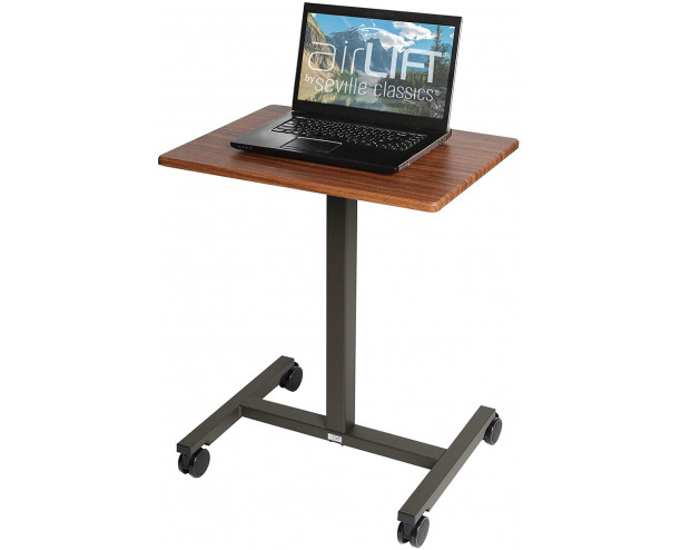 Seville Classics height adjustable desk - Maple