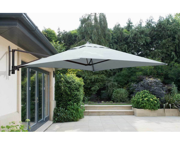 Wall Mounted Cantilever Parasol - Grey