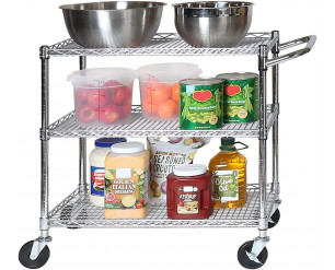 Seville Classics Industrial All-Purpose Utility Cart, Silver