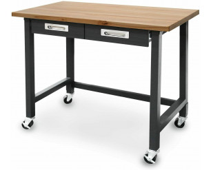 Seville Classics Workbench With Drawers Commercial Quality Heavy Duty Wood Top