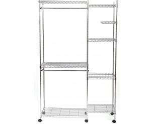 Seville Classics Wardrobe System, Steel, Silver, 119 x 45.7 x 188 cm