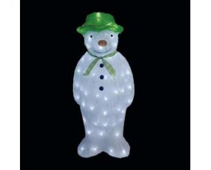Snowtime Acrylic Snowman Christmas Light Decoration 100 Ice White LED