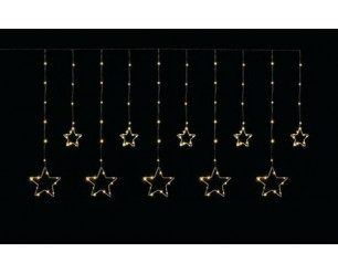 Star Curtain Light w/135 Static & 15 Twinkling Warm White LED's, In or Out Use